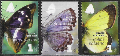 Finland 1296a-1296c Used - ‭‭Butterflies