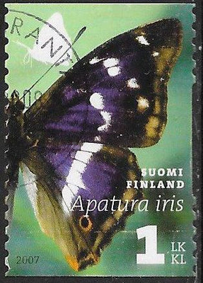 Finland 1296a Used - Butterflies - Purple Emperor (‭Apatura iris)