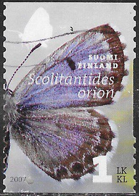 Finland 1296b Used - Butterflies - ‭Chequered Blue (Scolitantides orion)