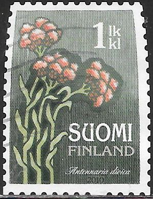 Finland 1346 Used - Flowers - Catsfoot (‭Antennaria Dioica)