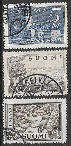 Finland 177-179 Used - ‭ Castle - ‭ ‭Lake Saima - ‭ ‭Woodchopper