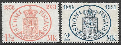 Finland 182-183 Unused/Hinged - ‭ ‭‭Postage Stamps in Finland, 75th Anniversary