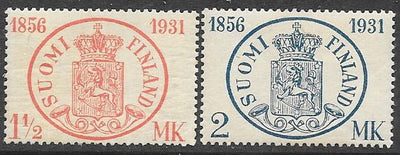 Finland 182-183 MNH - ‭ ‭‭Postage Stamps in Finland, 75th Anniversary