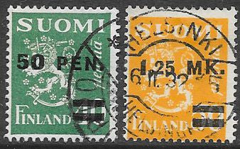 Finland 195-196 Used - Coat of Arms