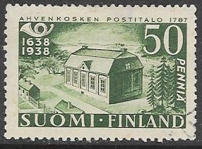 Finland 215 Used -‭ ‭300th Anniv. of the Finnish Postal System - Early P.O.
