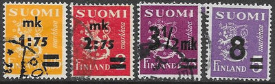 Finland 221-222 & 243 & 250 Used - Coat of Arms