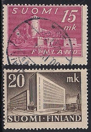 Finland 247-248 Used - ‭ ‭Castle in Savonlinna & ‭ ‭Post Office, Helsinki