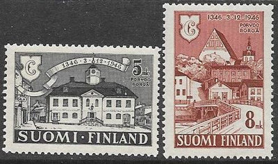 Finland 254-255 MNH - ‭600th Anniv. of the Founding of the City of Porvoo