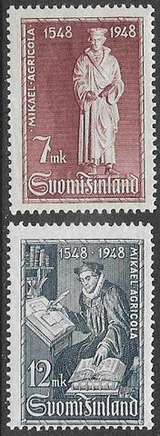 Finland 276-277 MNH - ‭Translation of the New Testament, by Michael ‭Agricol