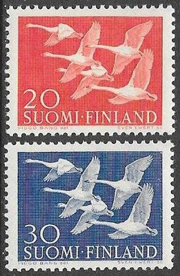 Finland 343-344 MNH - ‭‭‭Whooper Swans