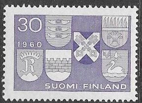 Finland 366 MNH - ‭ ‭Arms of Six New Towns