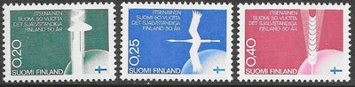 Finland 450-452 MNH - ‭‭‭50th Anniversary of Finland's Independence