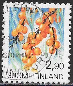 Finland 832 Used - Provincial Flowers - Sea Buckthorn