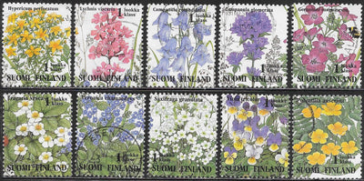 Finland 941a-941j Used - Wildflowers