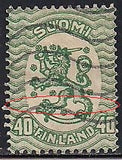 Finland 95b Used - Coat of Arms - Crease