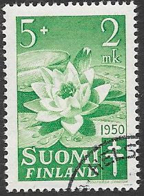 Finland B101 Used CTO - Flowers - Water Lily