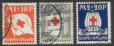 Finland B2-B4 Used - ‭ ‭Red Cross