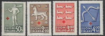 Finland B54-B57 Unused/Hinged - Coats of Arms