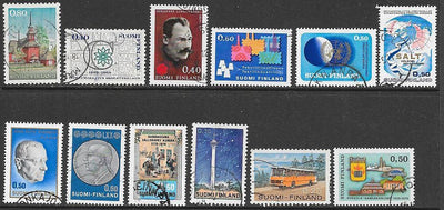 Finland 12 Used Stamps - Mini Collection