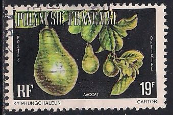 French Polynesia O9 Used - Pear