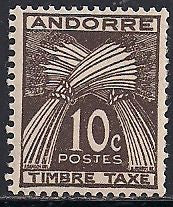 French Andorra J32 MNH - Wheat