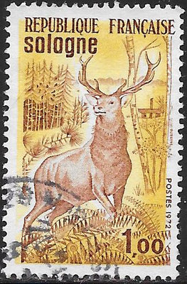 France 1334 Used - ‭Red Deer, Sologne Plateau