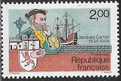 France 1923 MNH - 450th Anniversary of Cartier's Landing in Quebec