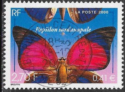 France 2776 Used - Nature - ‭Agrias sardanapalus Butterfly