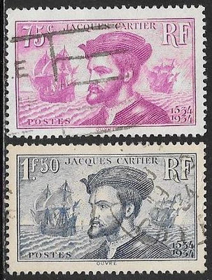France 296 Used & 297 CTO - Jacques Cartier