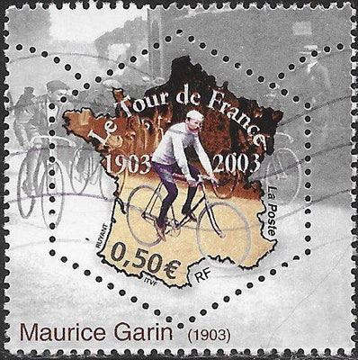 France 2968a Used - ‭Tour de France Bicycle Race, Centenary - ‭Maurice Garin, Winner of 1903 Race