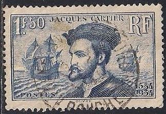 France 297 Used - Jacques Cartier - Explorer - Socked on the Nose