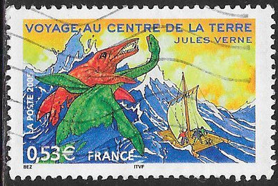 France 3122 Used - Stories by Jules Verne - ‭Journey to the Center of the Earth