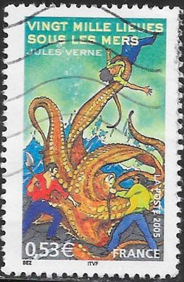 France 3125 Used - ‭‭‭‭‭Stories by Jules Verne - ‭20,000 Leagues Under the Sea