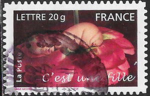 France 3132 Used - ‭‭It's a Girl - Heavy Cancel
