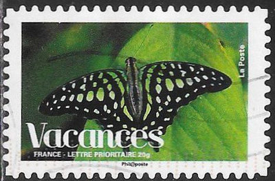 France 3442 Used - Vacations - Butterfly on Leaf