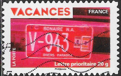 France 3667 Used - Vacations - ‭‭License Plate of Bonaire