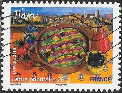 France 3847 Used - ‭‭Regional Cuisine - ‭‭‭‭Tian (Baked Vegetables), ‭Provence-Alpes-Côte d'Azur