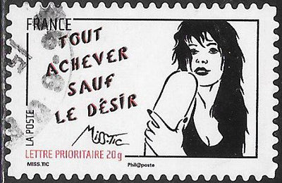 France 3977 Used - ‭Art of Miss.Tic (Radhia de Ruiter) - ‭Tout Achever Sauf le Desir