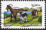 France 4774 Used - Goat Breeds - ‭La Corse
