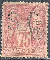 France 83 Used - Perfin