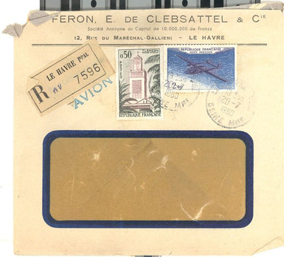 France Registered Cover - 7/20/1960