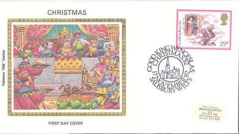 Great Britain 1010 FDC - Colorano - Christmas