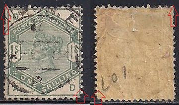 Great Britain 107 Used - Creases - Short Perfs - Victoria
