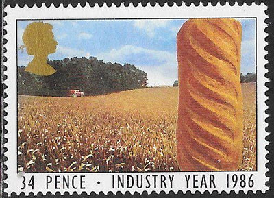 Great Britain 1132 Used - ‭‭Industry Year - ‭Cornfield & Bread