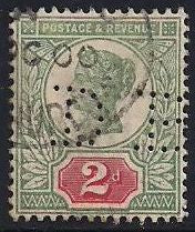 Great Britain 113 Used - Perfin - Victoria Jubilee