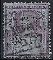 Great Britain 114 Used - Perfin - Victoria Jubilee