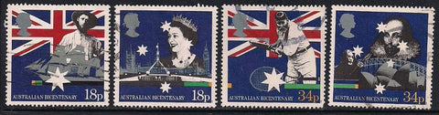 Great Britain 1222-1225 Used - Australian Bicentennial