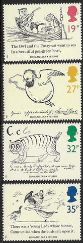 Great Britain 1226-1229a MNH - Edward Lear