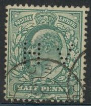 Great Britain 127b Used - Perfin