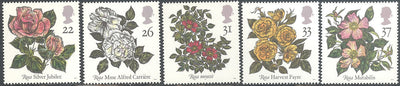 Great Britain 1382-1386 MNH - Roses